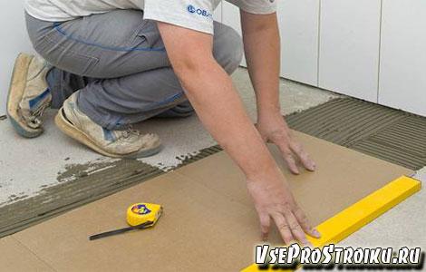 Как подготовить полы под плитку