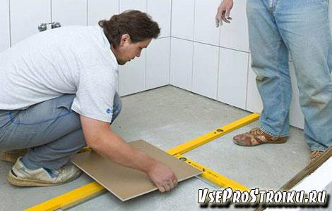 Как правильно укладывать плитку на пол