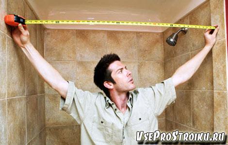 Как рассчитать плитку в ванной