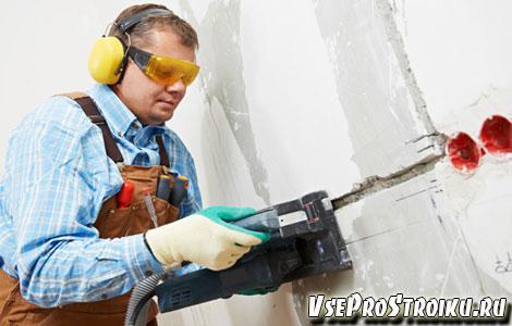 Как штробить стен