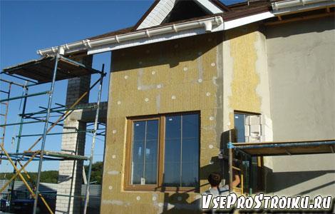 Утепление фасадов минеральной ватой технология