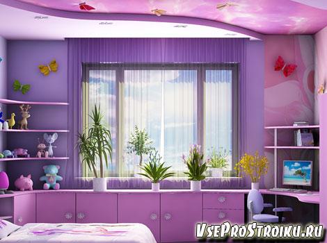 Тонкости фиолетовых штор