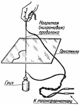 Как резать оргстекло нихромом