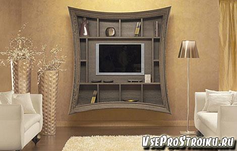Стенка и встроенный в неё телевизор