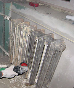 Предварительные работы перед окрашиванием радиаторов