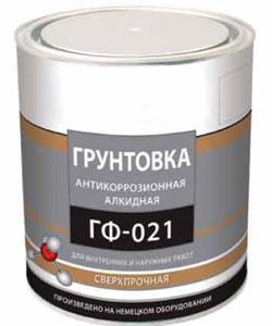 Грунтовка ГФ-021 алкидная антикоррозионная