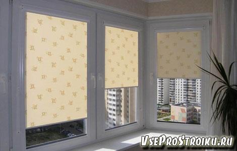 Рулонные шторы в интерьере