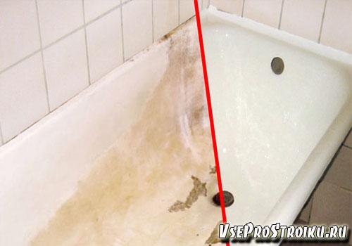 Покраска ванны с использованием акрила