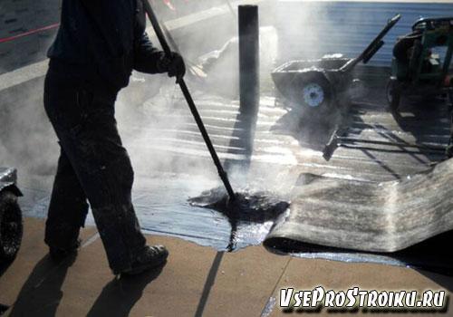 Как покрыть крышу гидроизолом