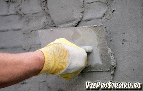 Цементно-песчаный штукатурный раствор