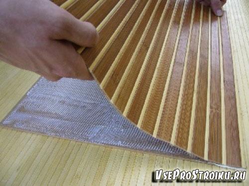 Отделка бамбуковыми обоями