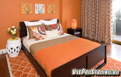 Сочетание персикового цвета в интерьере