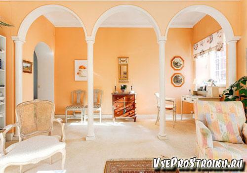 Холл в персиковом цвете