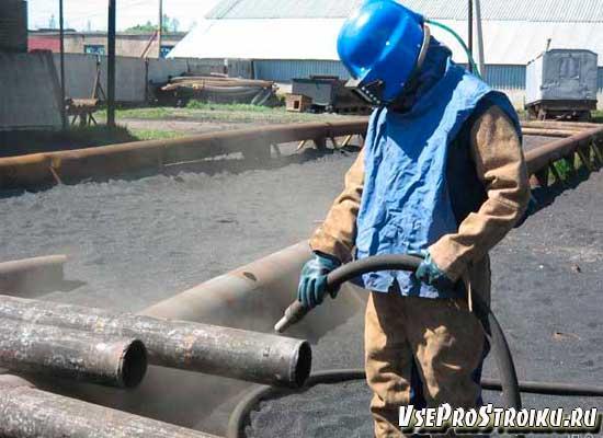 Пескоструйная и дробеструйная обработка металла