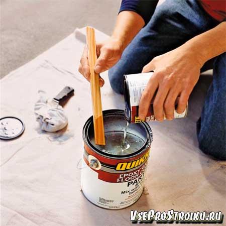 Как смешать краску с растворителем