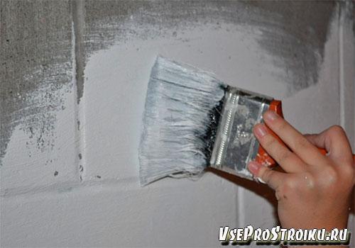 Окрашивании водоэмульсионной краской