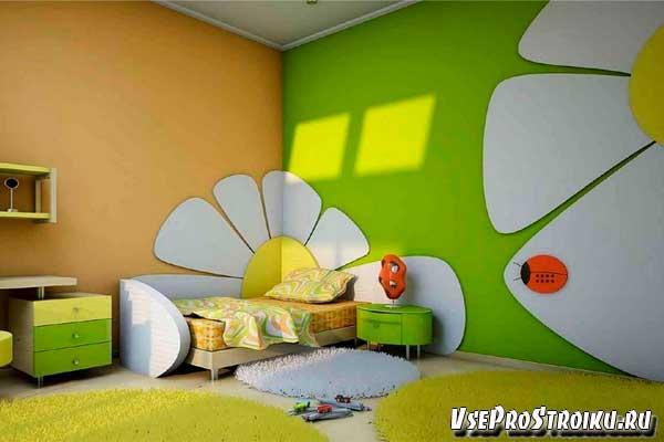 Какой цвет выбрать для стен в детской комнаты