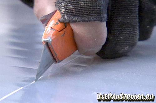 Как порезать поликарбонат ножом