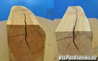 Чем заделать трещины в бревне или брусе