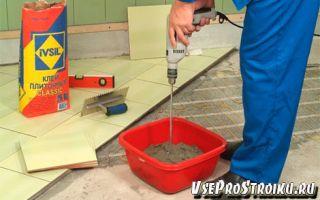 Расход клея для плитки на 1м2