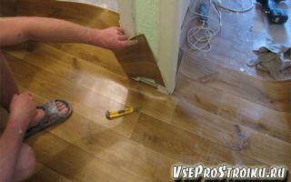 Как постелить линолеум на деревянный пол