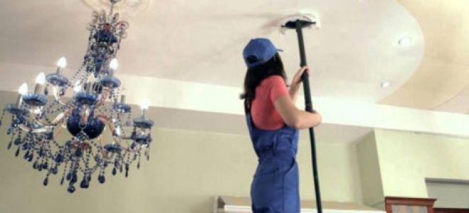 Можно ли мыть натяжные потолки?