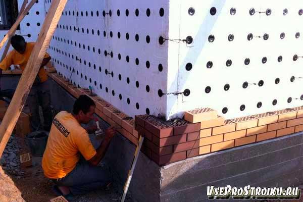 Лицевая кладка и облицовка стен