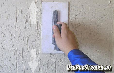 Фактурная штукатурка короед нанесения