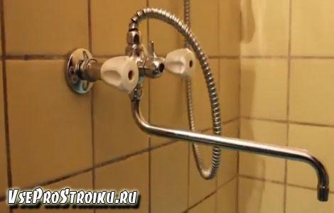 Как заменить смеситель в ванной комнате