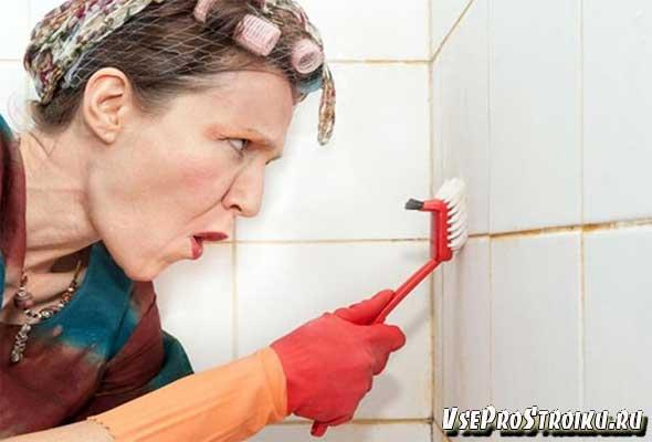 Как очистить швы в ванной от плесени и грибка