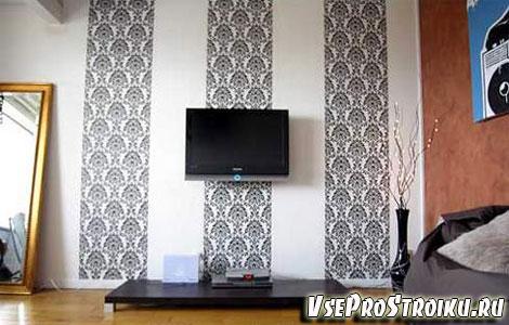 Как правильно скомбинировать обои для стен