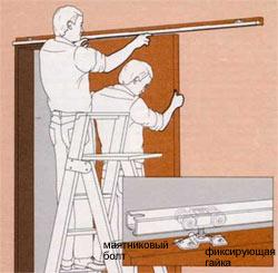 Монтаж раздвижной двери