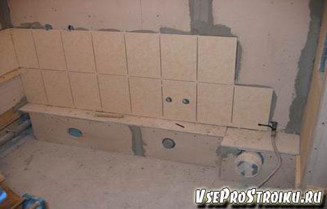 Как клеить плитку на гипсокартон?