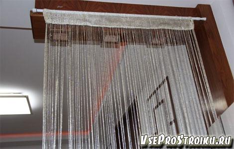 Где применяются нитяные шторы