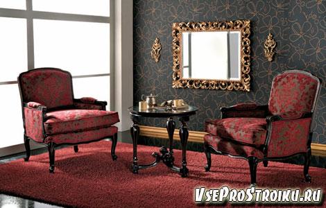 Создание гостиных с зеркалами