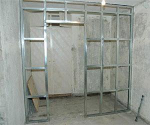 Гардеробная комната из гипсокартона