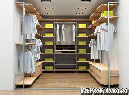 Плюсы гардеробной комнаты