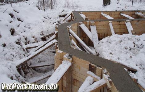 Плюсы заливки бетона зимой