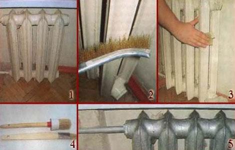 Что сделать перед покраской радиаторов