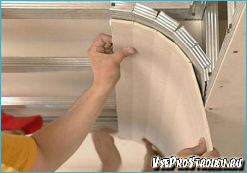 Как сделать криволинейные потолки из гипсокартона