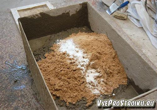 Методика приготовления растворов с песком