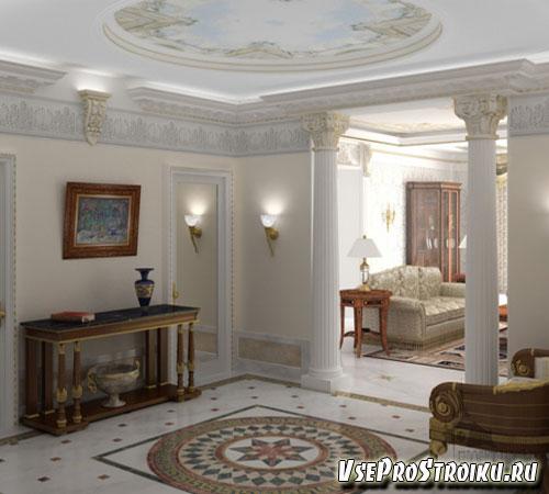 Холл с колоннами