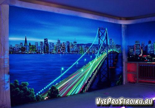 Флуоресцентные фотообои