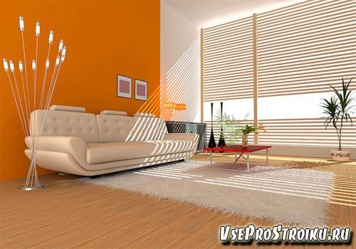 Интерьер комнаты персикового цвета