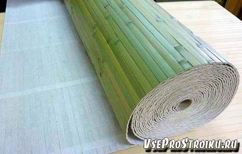 Обои из бамбука в интерьере