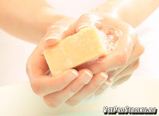 Воздействие мыльного раствора на супер клей