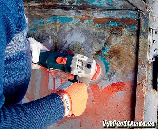 Как удалить старую масляную краску болгаркой