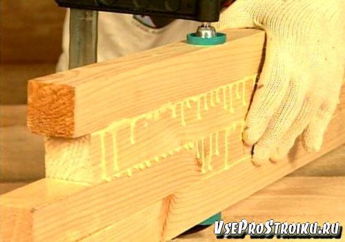 Склеивание деревянных элементов