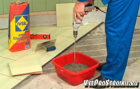 Нормы расхода клея для плитки на квадратный метр
