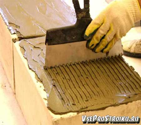 Технология кладки стен из газобетонных блоков